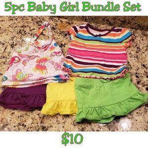5pc Baby Girl Bundle 6-9mths